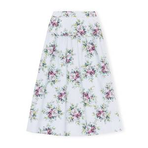 Bilde av Ganni Printed Cotton Poplin Skirt Heather