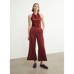 Image of Vince Satin Wide Flare Pant Currant